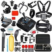 SmilePowo Sports Action Camera Accessory Kit for GoPro Hero6,5 Black,HERO (2018),Hero 5,4,3,Hero Session,GoPro Fusion,DBPOWER,AKASO,APEMAN,SJ CAM,Head Strap Camera Mount,Chest Mount Harness