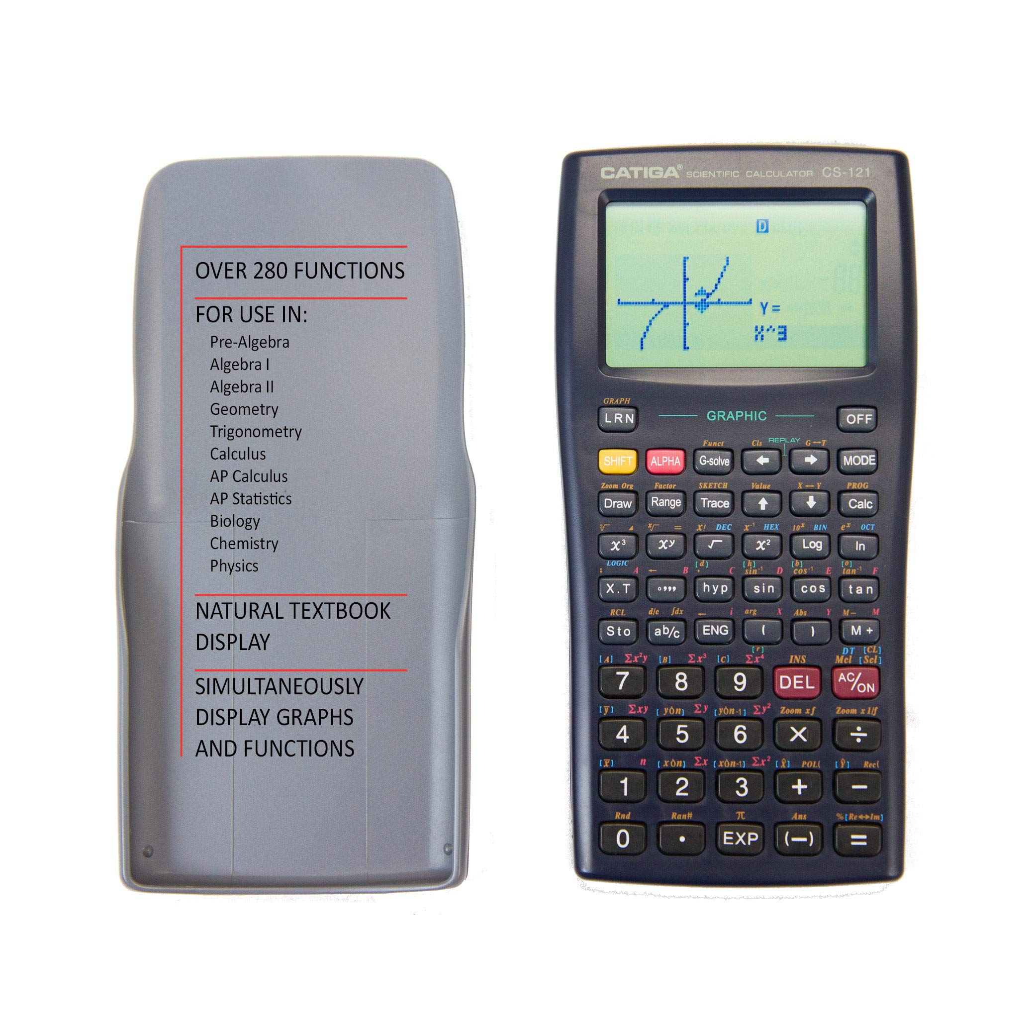 Graphing Calculator - CATIGA CS121 - Scientific and Engineering Calculator - Programmable System by CATIGA (Image #5)