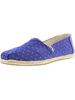 TOMS Blue Crush Heritage Canvas Womens Classics Venice Collection 10013507