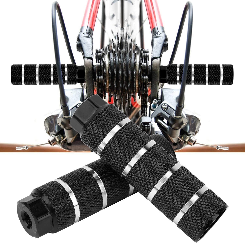 QKURT Pegs de Bicicleta 2 PCS Antideslizantes Pedales de pie de Bicicleta backseats Stands for BMX Mountain Bicycle Cycling