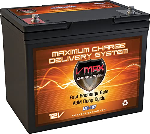 VMAXTANKS MR107-85 12V 85AH Marine AGM SLA Deep Cycle Battery