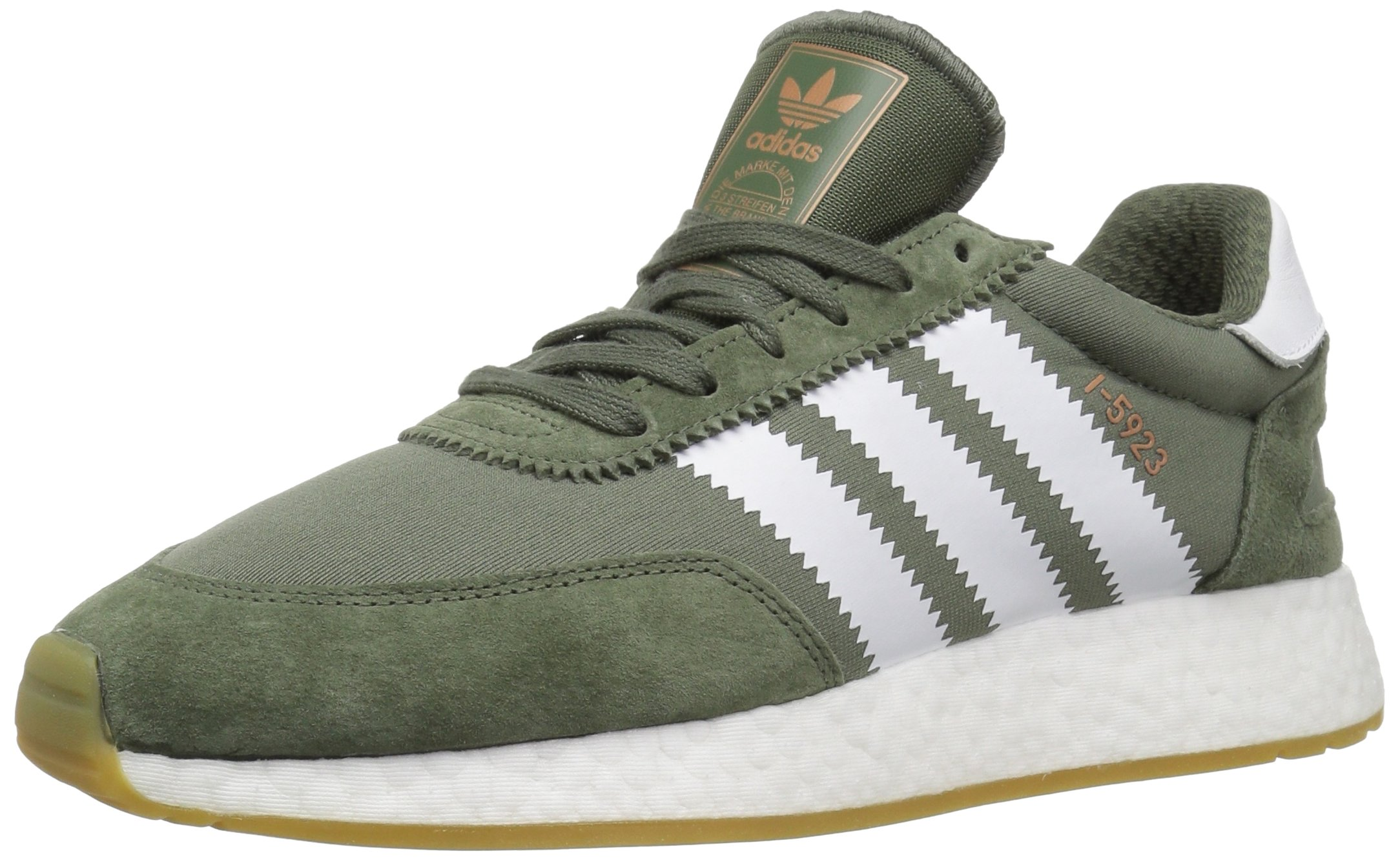 adidas Originals Men's I-5923, Base Green/White/Gum, 10.5 M US by adidas Originals