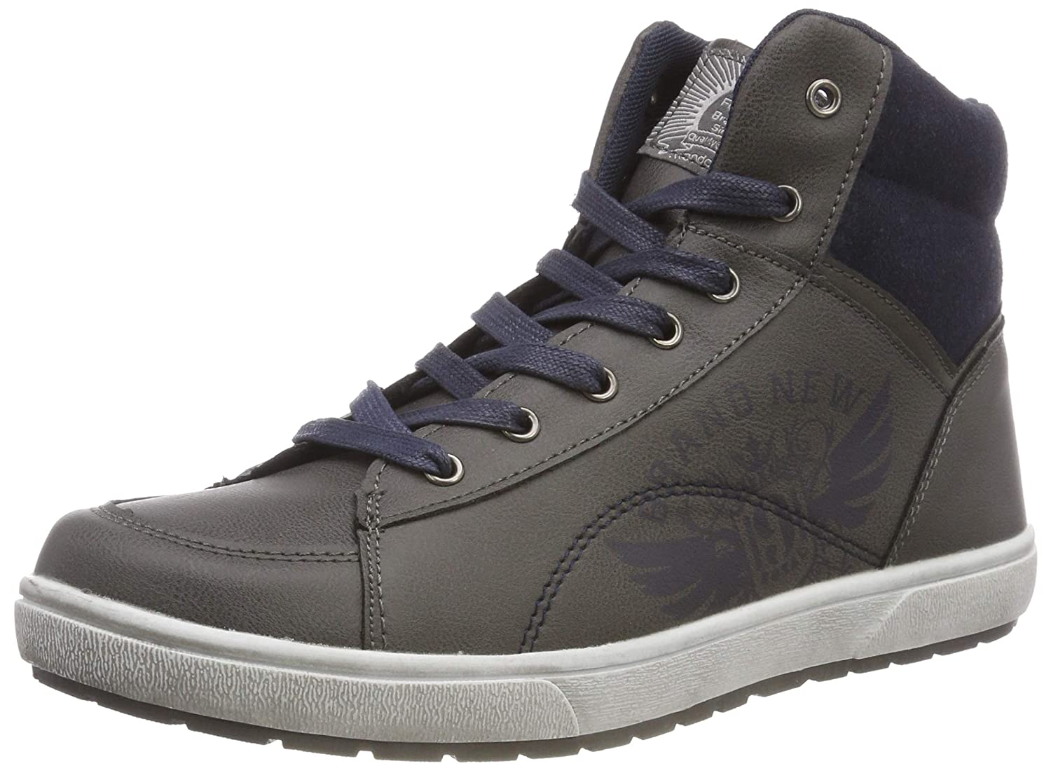 Clarks Boys' 451 063 Hi-Top Trainers Indigo