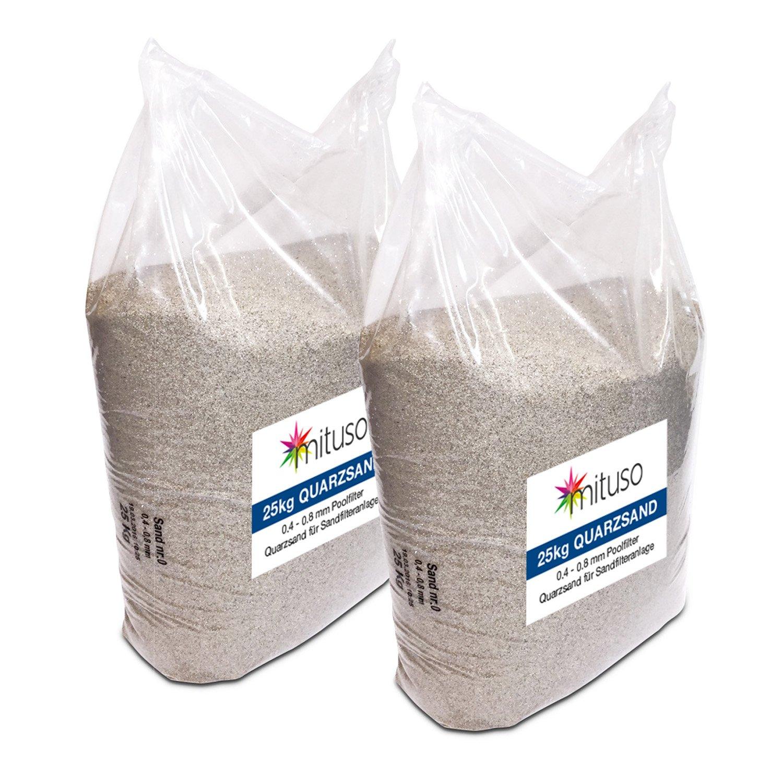 Turbo Mituso Quarzsand für Sandfilteranlage, 1er Pack (1 x 25kg): Amazon EP48