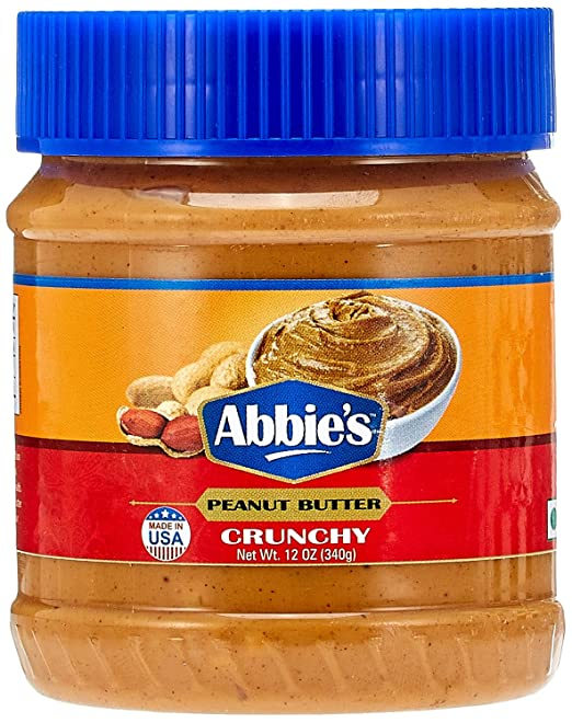 Abbie's Peanut Butter Crunchy, 340g Nut Butters at amazon