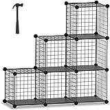 HOMIDEC Cube Storage, Storage Shelves 6 Cube Bookshelf Bookcase Closet Organizer and Storage Wire Storage Cube Multi-Use…