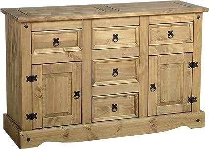 Corona - Aparador de madera de pino mexicano para sala de estar (2 ...