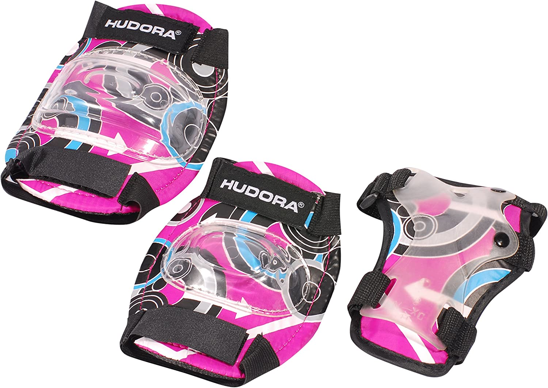 83343 Protektoren-Set Inliner HUDORA Protektoren Kinder Pink Style Gr S