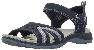 Dr. Scholl's Shoes Women's Daytime Flat Sandal, Navy, ...