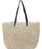 ILISHOP Hot Sale Women's Classic Straw Summer Beach Sea Shoulder Bag Handbag Tote