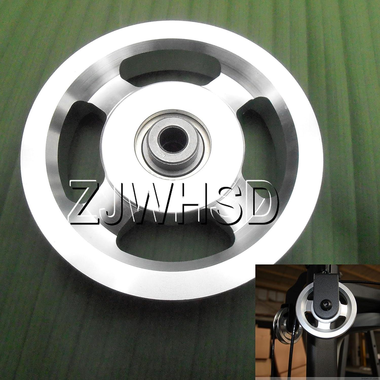 Universel 114mm en aluminium Roulement Poulie de roue pour gym Fitness exercice pièces de rechange d'Abbott