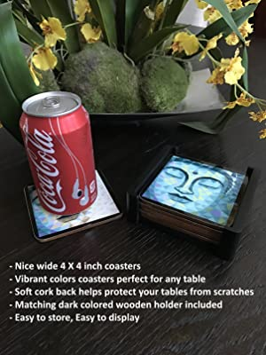 Buddha Designer Cork Coasters For Drinks