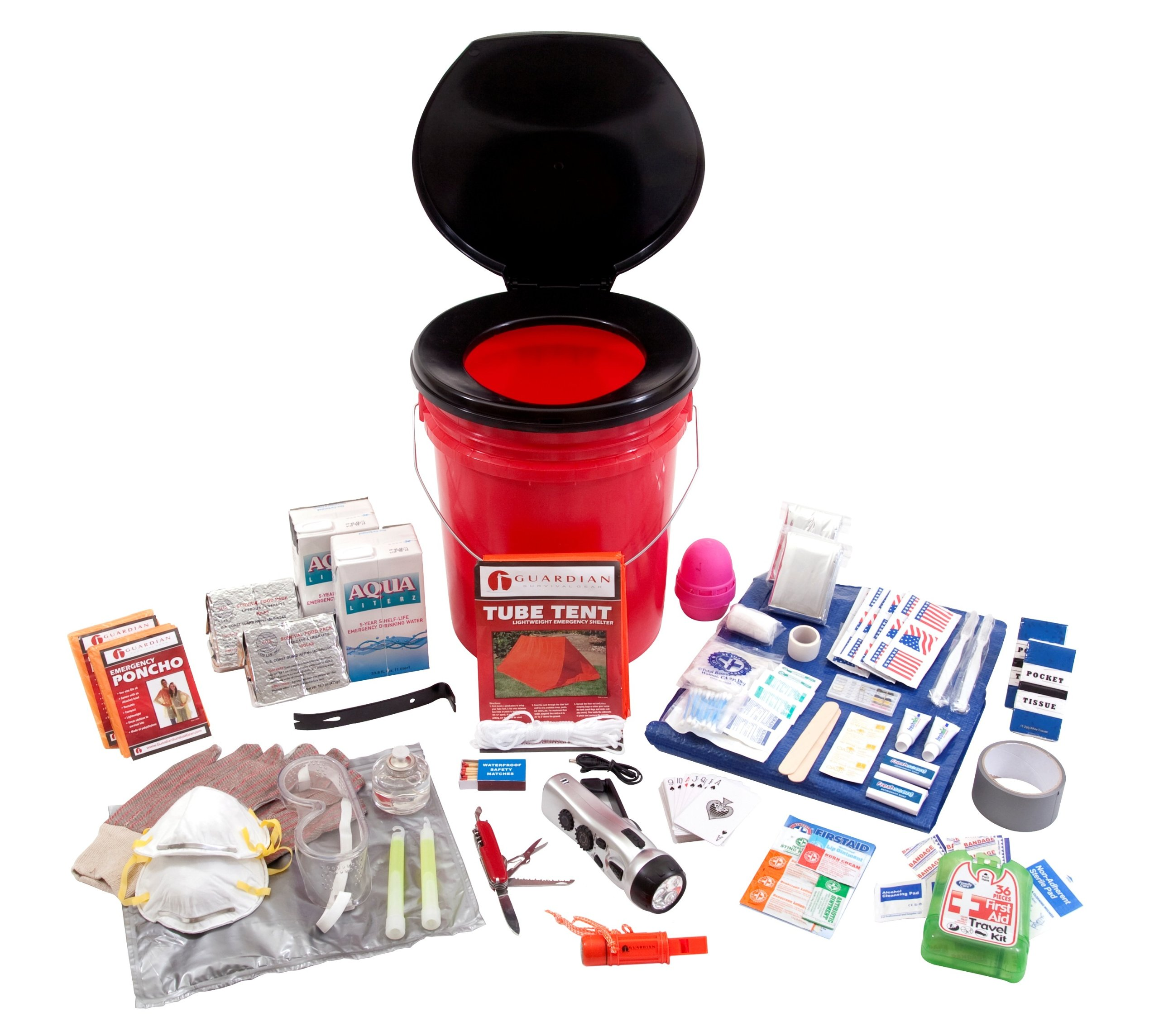 Guardian Survival Gear 2 Person Bucket Survival Kit 72 Plus Hours