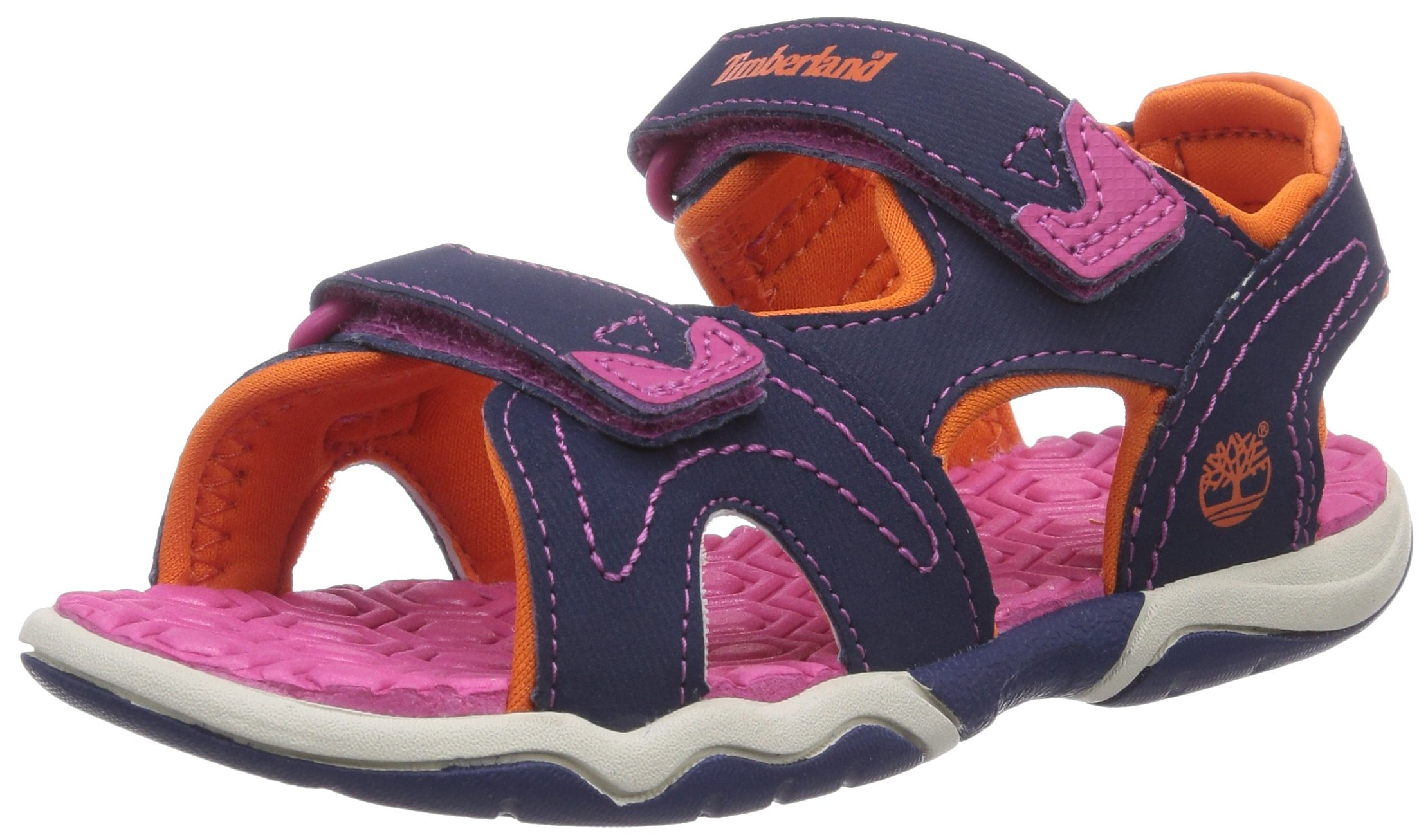 Timberland Adventure Seeker Two-Strap Sandal (Toddler/Little Kid),Navy/Pink/Orange,12 M US Little Kid by Timberland