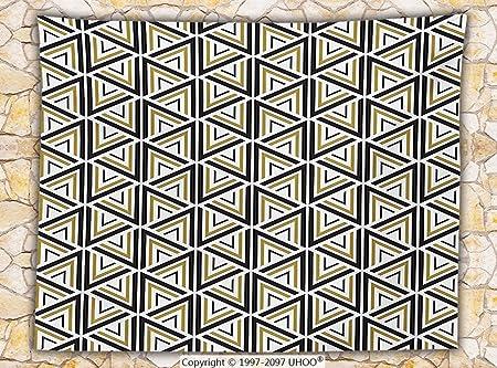 Manta de forro polar geométrica, moderna, elegante, triángulo y ...