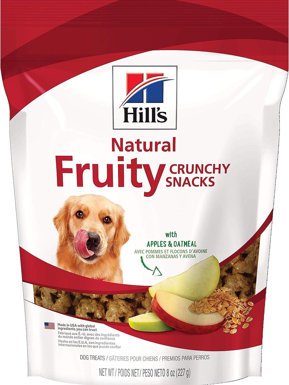 Hill's Dog Treats Crunchy Fruity Snacks with Apples & Oatmeal Dog, Healthy Dog Snacks