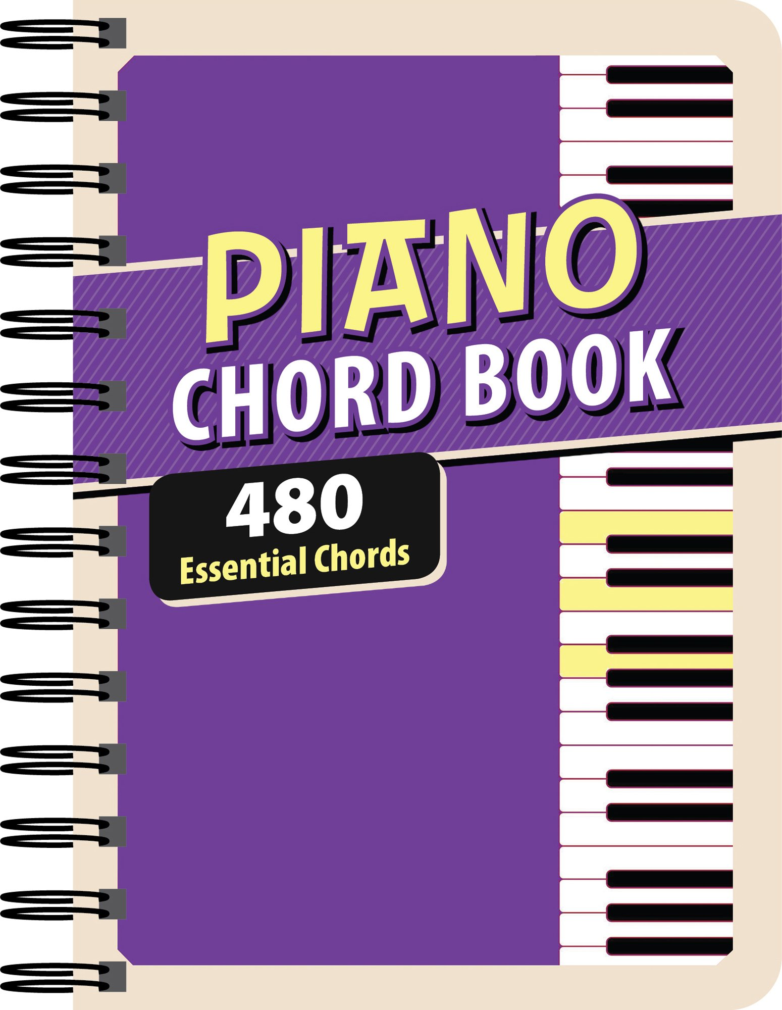 Amazon how to play piano book flashcards keyboard clings baby piano chord book 480 essential chords hexwebz Image collections