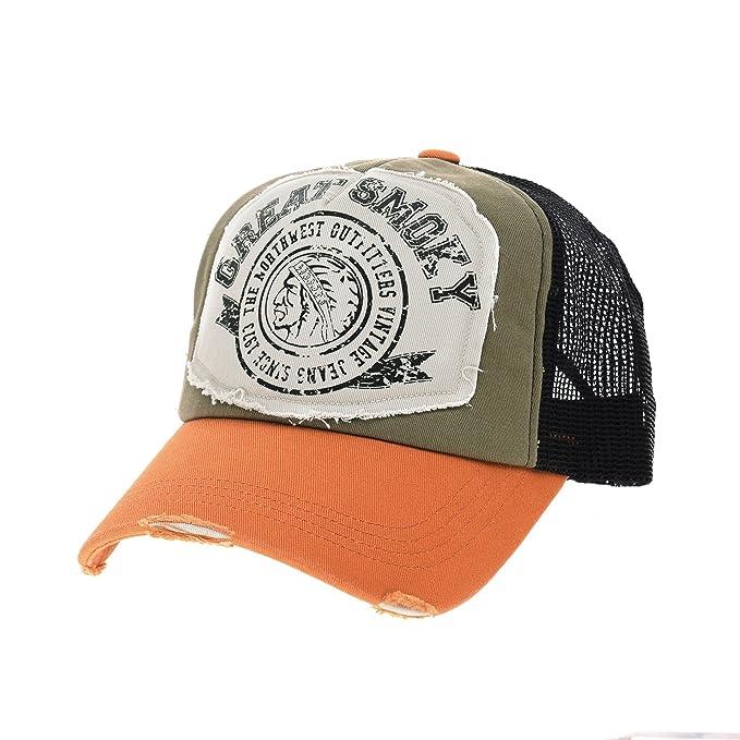 WITHMOONS Gorras de béisbol Gorra de Trucker Sombrero de Vintage Baseball  Cap Meshed Distressed Trucker Hat NC1715 (Orange)  Amazon.es  Ropa y  accesorios 223cb5f4227