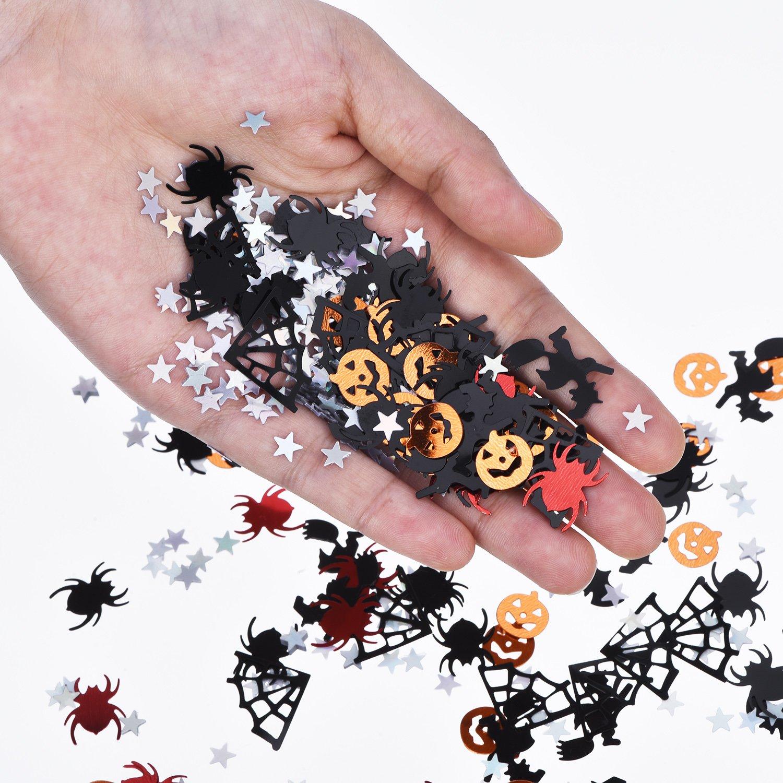 500 Stück Halloween  Fasching Tisch Deko Spinnen Konfetti Schwarz
