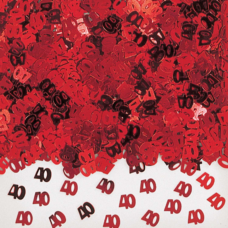 40th Ruby Anniversary Table Confetti Sprinkles 14g