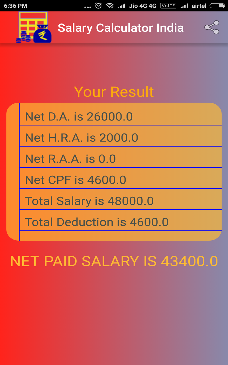 Amazon com: Salary calculator India: Appstore for Android
