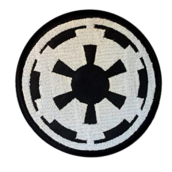 star wars galactic empire insigne imperial logo embroidered fastener cusson patch