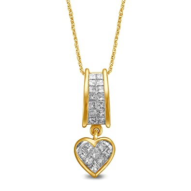 pendant gold disk necklace two tone jeweler diamond harris