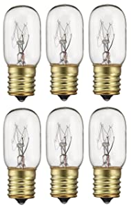 Pack Of 6 40-Watt T8 Tubular Indicator Intermediate (E17) Base 40T8 Incandescen Light Bulb