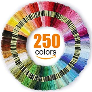 Friendship Bracelets Floss Premium Rainbow Color Embroidery Floss Electric Blue Gradient Cross Stitch Threads 14 Skeins Per Pack Embroidery Floss Crafts Floss
