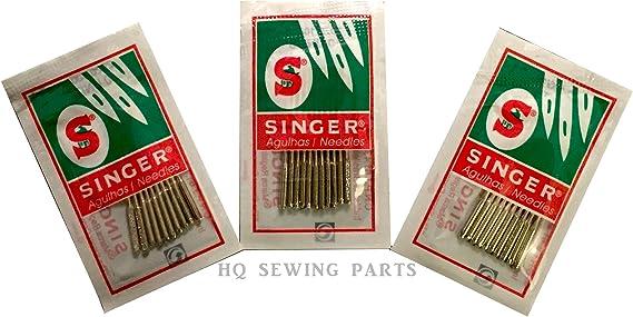 30 x Singer Agujas para Máquinas de Coser Domésticas – tamaños 14 – 16 – 18: Amazon.es: Hogar