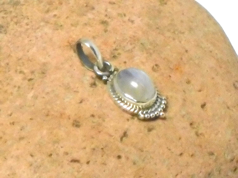 Art Gecko Pendentif pierre de lune en argent sterling 925 ovale