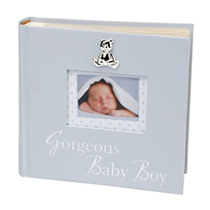 Oaktree Gifts Gorgeous Baby Boy Photo Album In Blue 6 X