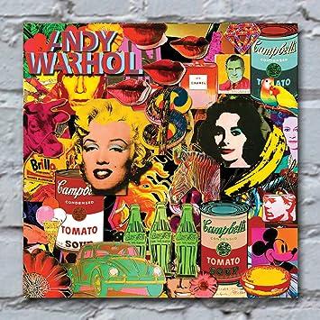 Andy Warhol Kunstdruck Auf Leinwand Groß Retro Pop Art Bedruckt