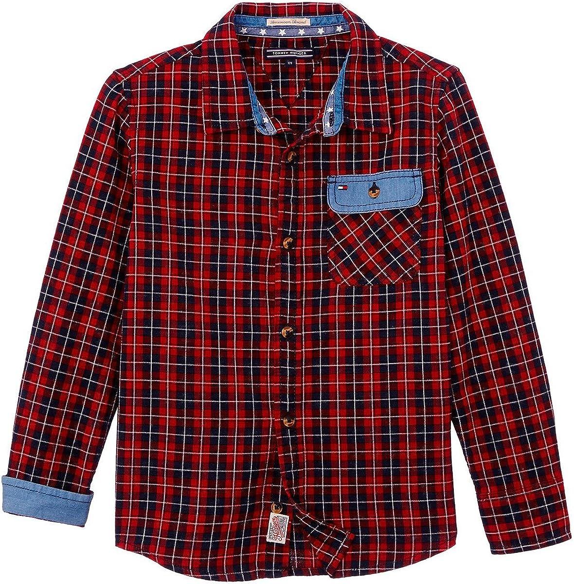 Tommy Hilfiger - Camisa, niños, Color- Granate, Talla- 5 ...