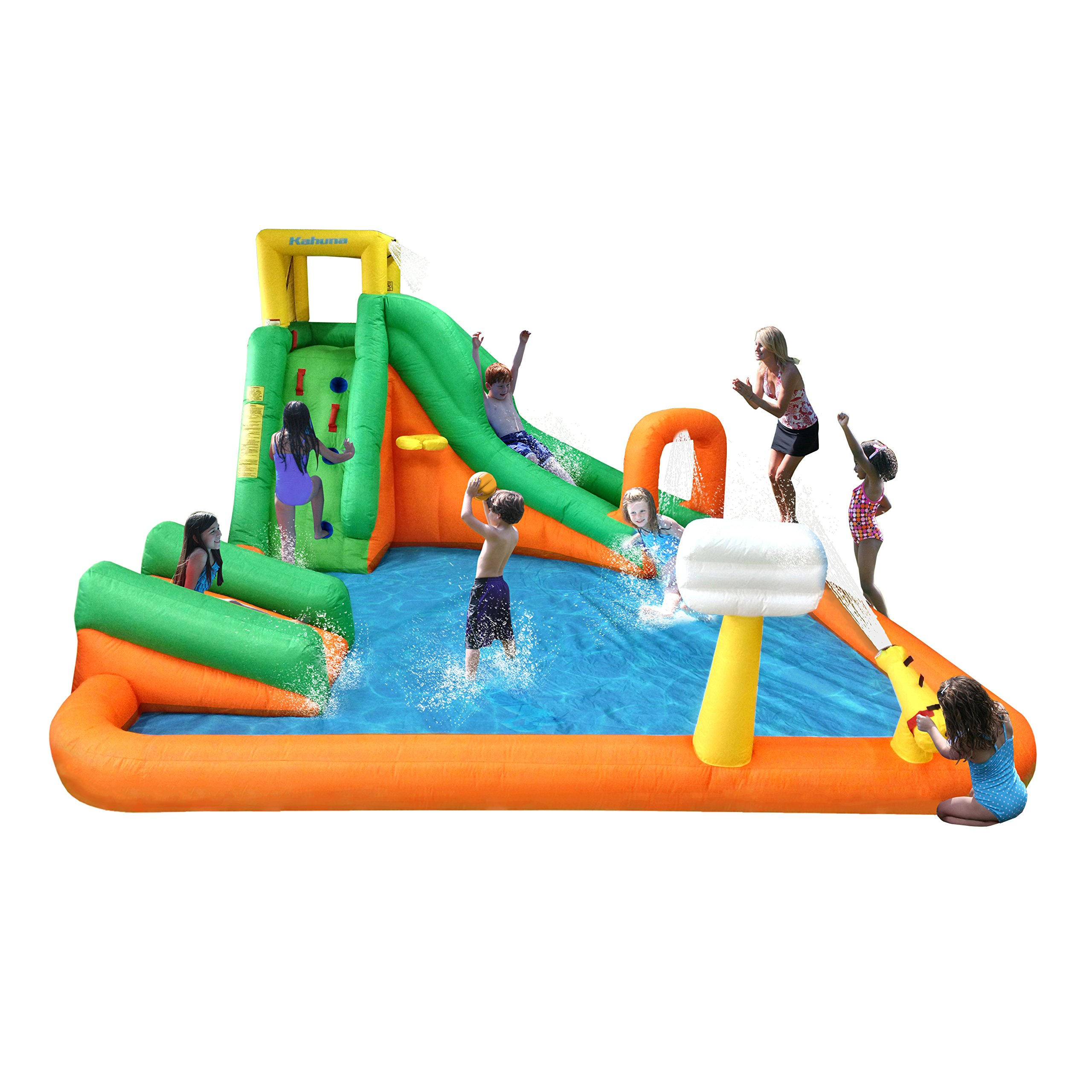 Magic Time Titan Falls with Junior Inflatable Water Slide, Green | 90729 by Lisongin
