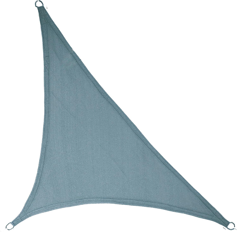 "LyShade 16'5"" x 16'5"" x 22'11"" Right Triangle Sun Shade Sail Canopy (Cadet Blue) - UV Block for Patio and Outdoor"