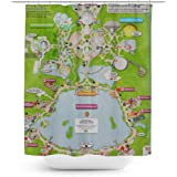Queen Of Cases Epcot Center Map Shower Curtain