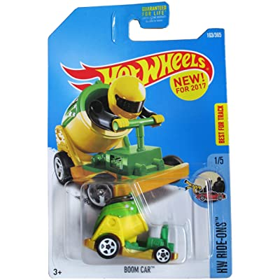 Hot Wheels 2020 HW Ride-Ons Boom Car (Cannon Car) 163/365, Green and Yellow: Toys & Games