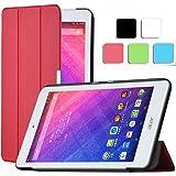 ELTD Acer Iconia ONE 7 B1-770 Funda, Ultra Slim Funda de piel para Acer Iconia ONE 7 B1-770 con la función, Rojo