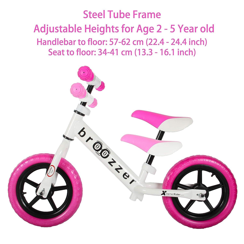 Amazon Com Haptoo Girl Balance Bike For 2 3 4 5 Year Old No Pedal