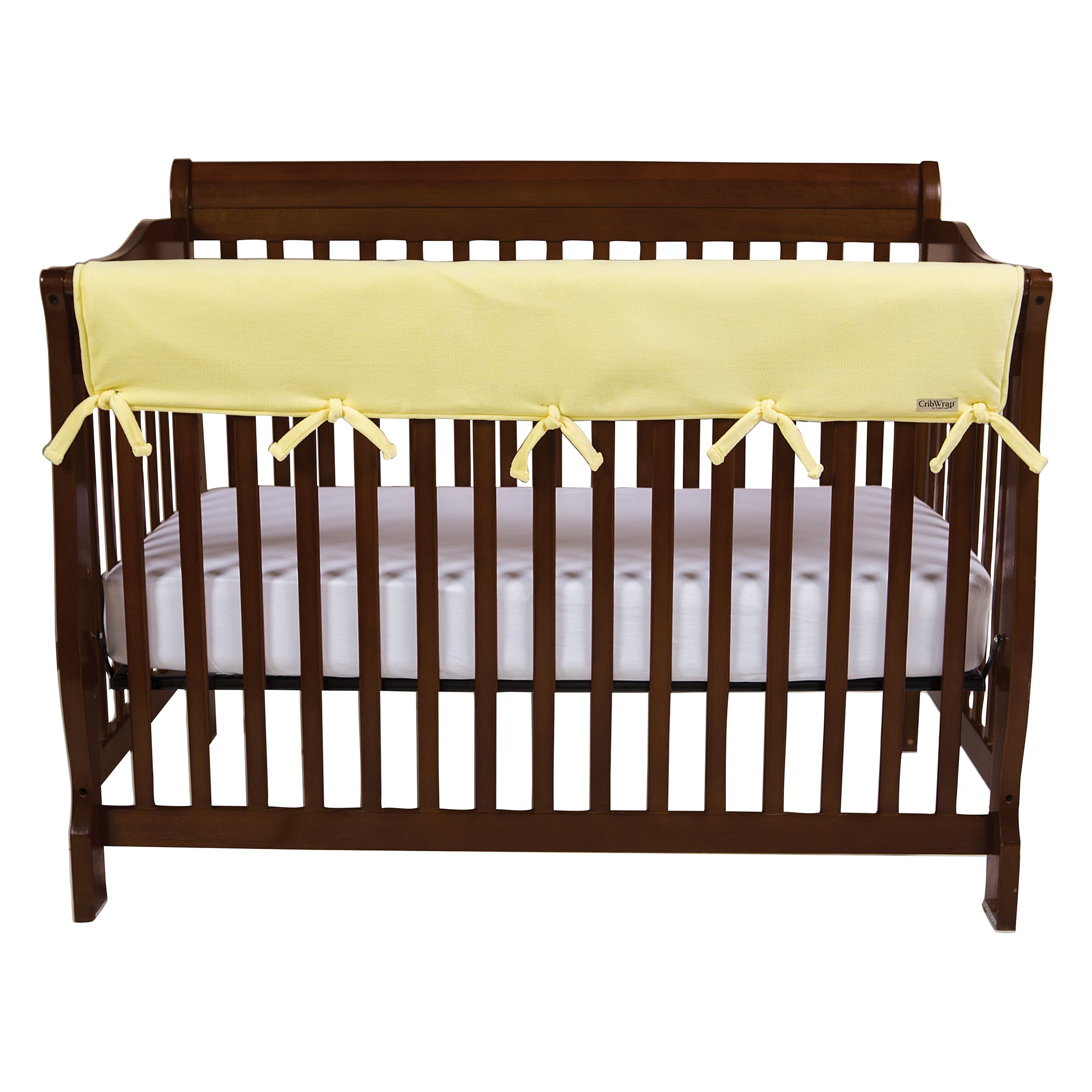 Trend Lab Waterproof CribWrap Rail Cover - For Wide Long Crib Rails Made to Fit Rails up to 18'' Around