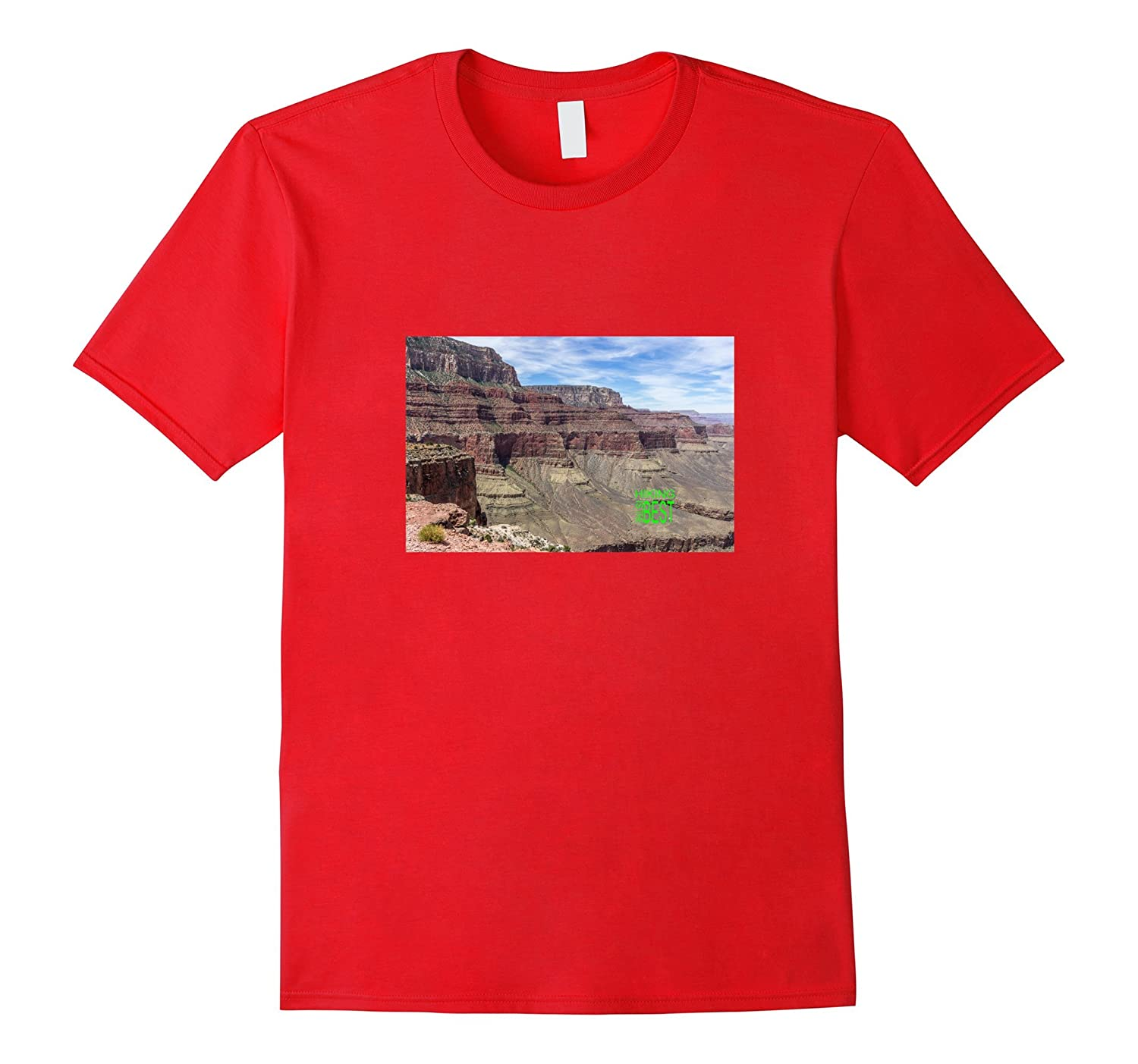 Hiking Is The Best - Photo of Grand Canyon Cliffs tshirt-Vaci