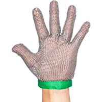 ThreeH Cut Resistant Gloves 304L Stainless Steel Mesh Kitchen Butcher Working Cutting Safety Gloves GL08 XS(One piece)