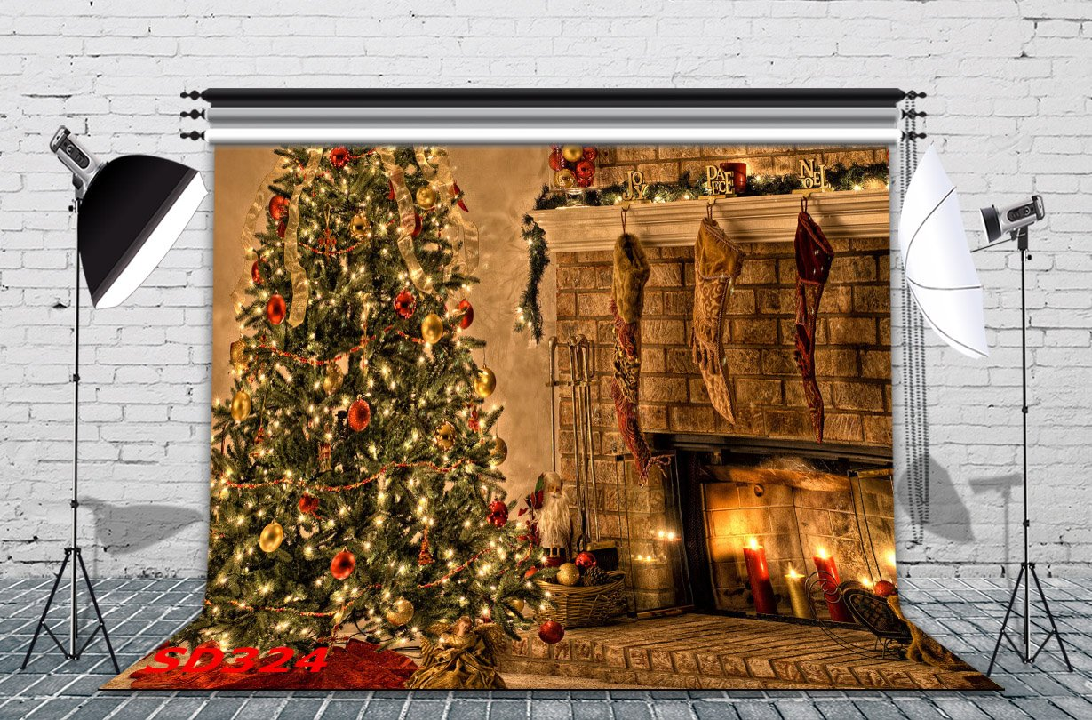 amazon com lb 7x5ft christmas poly fabric photo backdrops