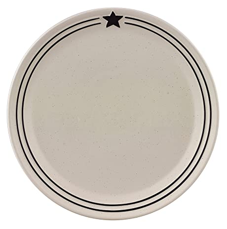Farmhouse Black and Cream Country Star Dinner Plates Set of 4 Stoneware  sc 1 st  Amazon.com & Amazon.com | Farmhouse Black and Cream Country Star Dinner Plates ...