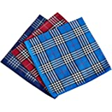Men's Handkerchiefs 100% Cotton Checker Pattern 6 Pieces