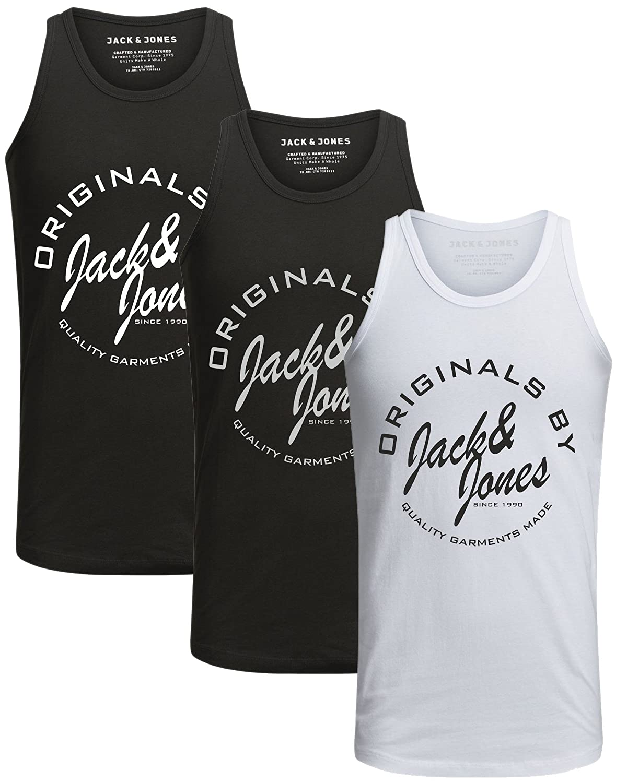JACK & JONES JONES JONES Herren Tank Top 3er Pack Mix Slim Fit T-Shirt Print Shirt Athletic Sport Top B07F21JS7F T-Shirts Verrückter Preis, Birmingham bfa70e