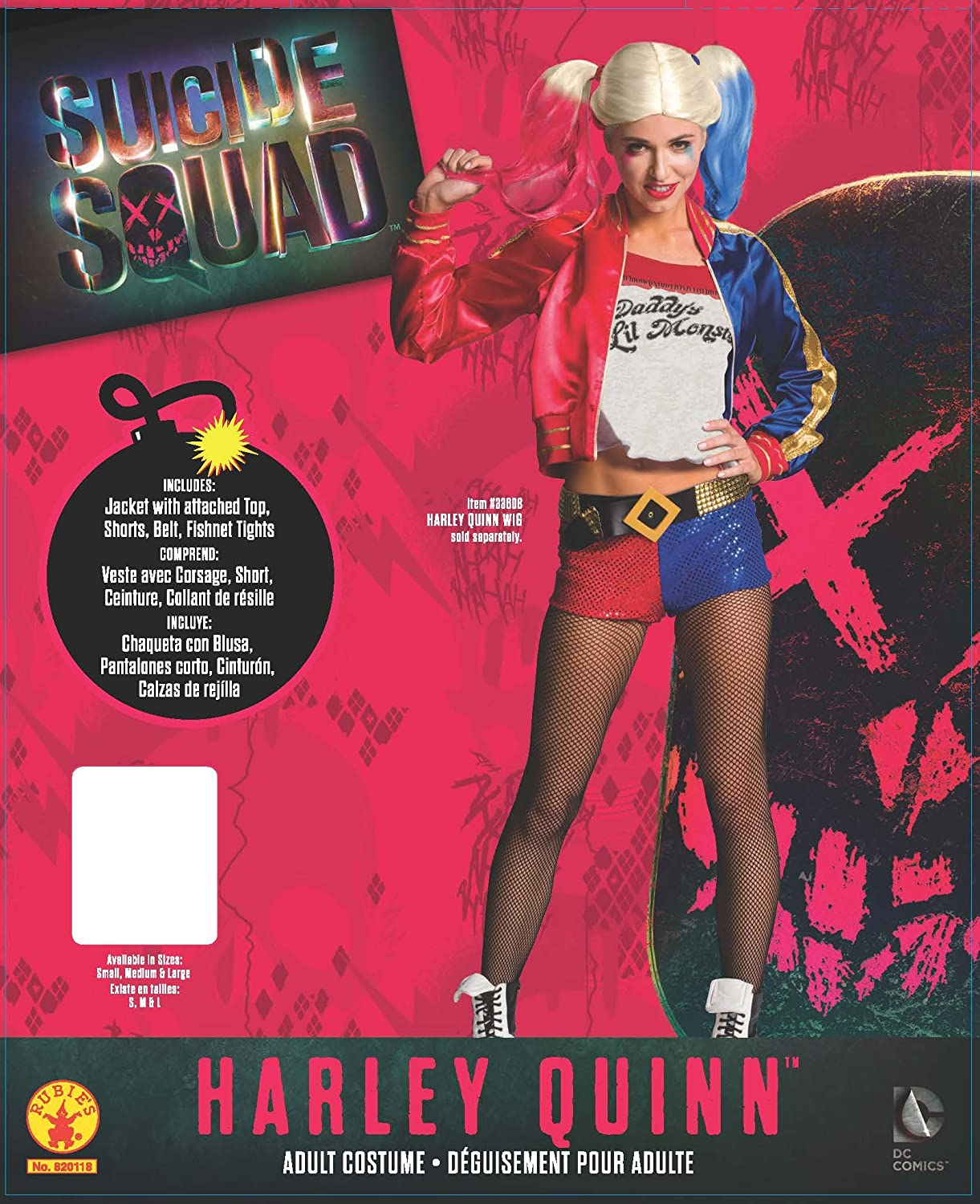 Rubies Official Harley Quinn Suicide Squad para mujer, Talla L (14-16)