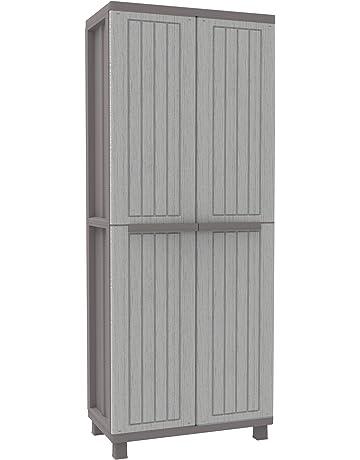 Terry - Armario plástico exterior, 68 x 37.5 x 170 cm