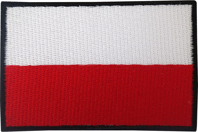 Polnische Flagge Aufnäher Zum Aufbügeln Oder Aufnähen Besticktes Motiv Küche Haushalt